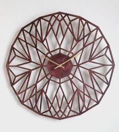 North Star Laser Cut Wood Clock #product_design
