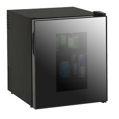 Beverage Cooler with Mirror Door, More Info Here: http://bacheloronabudget.com/kitchen/other/drinking/