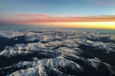 Beautiful sunset over the Swiss Alps