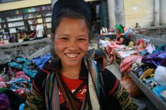 Gorgeous smile on this girl from the Black Hmong tribe in Sapa, Vietnam.