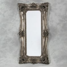 Ornate Mirrors | Silver Small Ornate French Mirror | Mirrors | Hall's Interiors