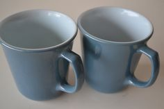 SOLD***$10***Corning Ware Pyrex Blue Milk Glass Cups - set of 2***For more unique items please visit: http://www.etsy.com/shop/TsEclecticCorner