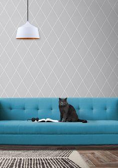 Dash Wallpaper in Grey by Ingrid + Mika for Milton & King
