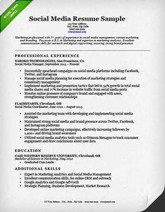 Download Social Media Specialist Resume Pics Sales Resume Examples, Resume Objective Examples, Job Cover Letter, Cover Letter For Resume, Marketing Resume, Social Media Marketing, Digital Marketing, Resume Form, Job Resume Samples