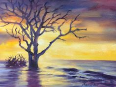 "For Sale: Boneyard Beach by Robert Maniscalco | $250 | 18""w x 14""h | Original Art | http://www.vangoart.co/buy/art/boneyard-beach--2 @Vango"