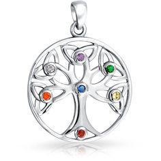 Bling Jewelry My Family Tree Charm ($23) ❤ liked on Polyvore featuring jewelry, pendants, necklaces, necklaces pendants, pendant jewelry, charm pendant, pendant charms, charm jewelry and multicolor jewelry