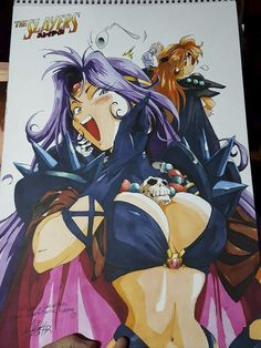 SLAYERS: Naga White Serpent and Reena Inverse by YeshHD Manga Anime, Manga Art, Character Art, Character Design, Copic Art, Art Diary, Hyena, Comics Girls, Slayer Anime
