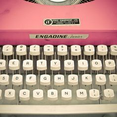 vintage typewriter -- I had one of these as a young girl. I remember thinking I was a writer writing stories and books! Love it!