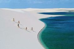 Little-known to the world is the mesmerizing desert oasis of Lençóis Maranhenses National Park in Maranhão, Brazil. Here, in the middle of the rolling white sand dunes, a breathtaking transformation takes place every year during the rainy season, with endless deep turquoise pools spreading acro...