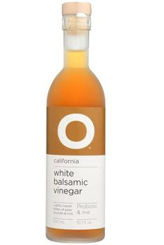 O OLIVE OIL White Balsamic Cali Champagne Vinegar, 10.1 FZ California White Balsamic Vinegar, Cold-pressed Muscat Juice.