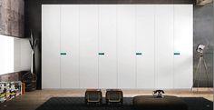 Armari portes batents blanques lacades de Emede.