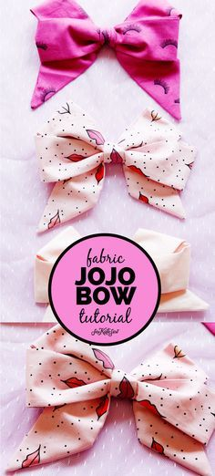 how to make a jojo bow with fabric! - see kate sew how to make a jojo bow with fabric! - see kate sew This FREE TUTORIAL will show you How to Make a Jojo Bow with Fabric. Quick and easy, your girls will love to have these bows in every fun print! Fabric Bow Tutorial, Hair Bow Tutorial, Flower Tutorial, Easy Hair Bows, Making Hair Bows, Jojo Hair Bows, Fabric Hair Bows, Purple Fabric, Ribbon Hair