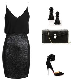 """""""fashion  inspiration Lubica"""" by ludmila01-1 on Polyvore featuring TFNC and Christian Louboutin"""