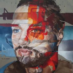 """Portrait by Corné Eksteen - """"New Assassin"""" Oil on canvas, 100 x 100cm"""