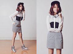 Tricia Gosingtian - Love Stereo Sneaker Wedges, Persunmall Top, Jeanasis Skirt, Just G Necklace - 092113