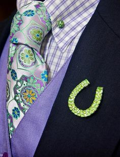 For good luck! Love the color combination - show outfit inspiration!