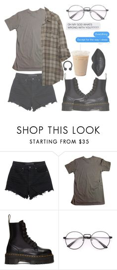 """Grunge #?"" by kitcat01 ❤ liked on Polyvore featuring Alexander Wang, American Apparel and Dr. Martens"
