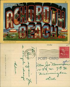 https://flic.kr/p/eegmsW | Greetings from Rehoboth Beach Delaware | Collection: Caley Postcards Filename: 9015-028-000-05086.jpg State: Delaware County: Sussex County City/Town: Rehoboth Beach Color/BW: Color Image Type:  Publisher: The Harry P. Cann & Bro. Co., Baltimore, MD Stamp: 2c John Adams Postmark year: 1954 Size: 5.5 x 3.5 Comments: