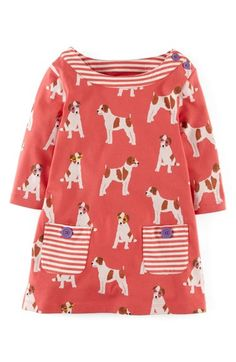 Mini Boden Jersey Cotton Print Tunic (Toddler Girls, Little Girls & Big Girls) available at #Nordstrom