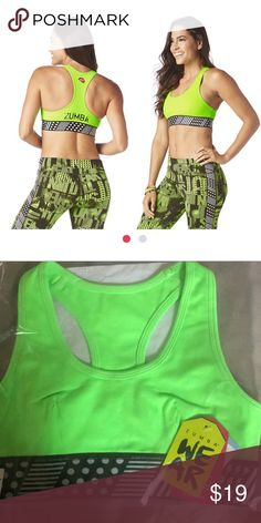 5e02c78f11a60 Shop Women s Zumba Fitness Green size S Bras at a discounted price at  Poshmark. Description  New with tags zumba sport bra.
