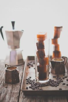 Iced Coffee Cubes | KiranTarun.com/Food #coffee #beverage #coldcoffee