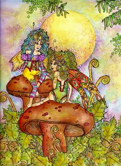 """Sisters by Memory Howell © """"Fairies of Memory on Face Book."""