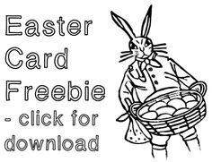"""Nostalgisches Osterkarten-Freebie zum Download - """"Fee ist mein Name"""" // Easter card freebie for download"""