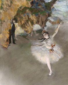 Edgar Degas, L'Etoile ou Danseuse sur Scène : tableau de GRANDS PEINTRES et peinture de Degas