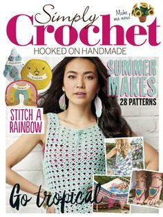 Simply Crochet 2016 - 轻描淡写 - 轻描淡写 - lots of fun projects to crochet. Knitting Books, Crochet Books, Crochet Home, Knitting Stitches, Knit Crochet, Knitting Magazine, Crochet Magazine, Crochet Chart, Models