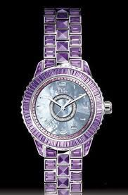 Dior Chqistal Series Amethyst Jewelry Watch
