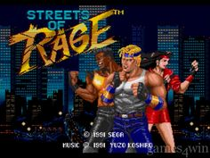 Streets of Rage Start Screen