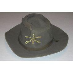 57b0efe84eb Spanish American War campaign hat  D Troop 1st Cavalry The Spanish American  War