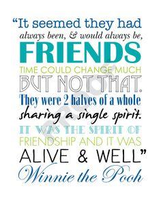 Printable WINNIE THE POOH Friendship Quote by JaydotCreative @Karen Jacot Darling Space & Stuff Blog Breccia