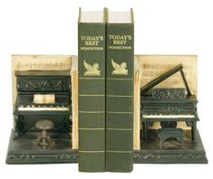 Sterling 91-3708 Composite Pair Dueling Piano Bookends, 4 by 6-Inch