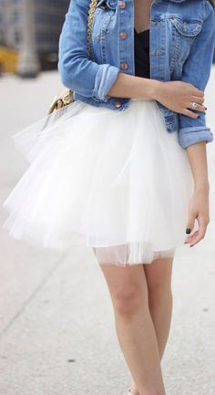 White Adult Women Ladies Tutu Tull Party Prom Above Knee Length Dance Skirts