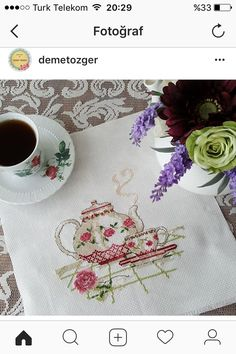 Tea Time, stitched to perfection.