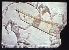 Boat-Building Scene. Thebes, Egypt. Late Period, early XXVI Dynasty, ca. 664-634 B.C.