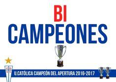 UNIVERSIDAD CATOLICA BICAMPEON DE CHILE Football Soccer, Chile, My Love, Champs, Life, Chili, Chilis