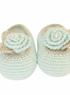 Crochet Flower Detail  £16, Attic Textiles  Quite simply adorable, these hand-crocheted shoes are machine-washable and have a super-sweet faux pearl detail.  Seeing gorgeous new shoes in the shops is always tempting and it's often VERY hard to resist making a purchase!  But you should never feel guilty buying children's shoes. After all, your baby's feet are still growing and they'll need several new pairs in the first few years alone.