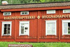 Rakennusapteekki, Billnäs Finland, Garage Doors, Shed, Outdoor Structures, Outdoor Decor, Travel, Home Decor, Viajes, Decoration Home