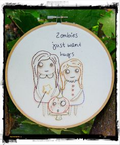 Halloween ZOMBIES embroidery PDF Pattern  just by Hudsonsholidays, $6.99