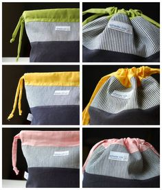 DIY - sewing tutorial for kid's bags! Sewing Tutorials, Sewing Crafts, Sewing Projects, Sewing Patterns, Diy Sac Pochette, Fort Kit, Diy Couture, Creation Couture, Pouch Bag