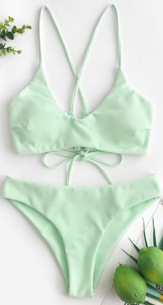 Criss Cross Textured Padded Bikini Swimsuit - Crafted from a cozy textured fabric and designed in a solid color, this two-piece swimsuit adorns w - Cute Swimsuits, Two Piece Swimsuits, Women Swimsuits, Cute Bikinis, Summer Bathing Suits, Cute Bathing Suits, Baby Bathing, Summer Swimwear, Women's Swimwear