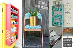 4 Fabulous DIY Furniture Makeovers - made with HAPPY