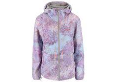 Dámská fialová bunda s kapucí a s potiskem Bench Profitability