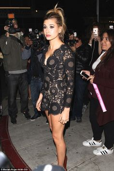 On display:Hailey Baldwin was already showing off a lot when she attended the AMAs after party at The Nice Guy in West Hollywood on Sunday