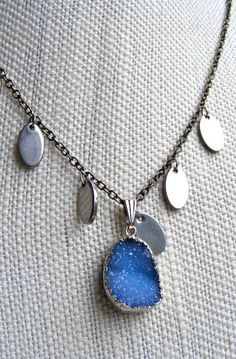 Sparkle Boho Blue Necklace