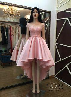 Inma Cute Short Dresses, Cute Dresses For Party, High Low Prom Dresses, Stylish Dresses, Pretty Dresses, Homecoming Dresses, Beautiful Dresses, Party Dress, Dama Dresses