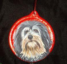 Lowchen Dog Custom Painted Christmas by daniellesoriginals on Etsy, $18.95