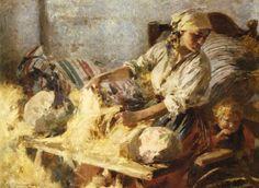 """Zdzislaw Piotr Jasinski """"Peasant Woman"""", 1926, oil on canvas, 64 x 85 cm, National Museum, Warsaw"""